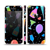 The Neon Party Drinks Skin Set for the Apple iPhone 5s