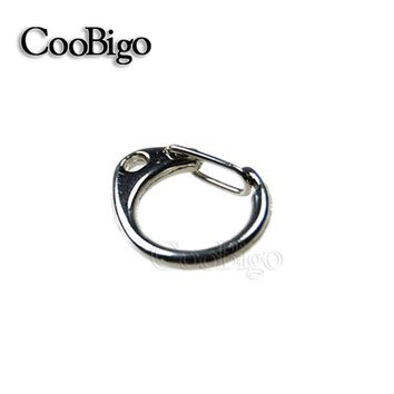 "5pcs Pack Round Lobster Clasps Snap Hook 1-1/16""Length Metal Key Chain Ring Bag Parts Paracord Straps Knife Lanyard#FLQ031"