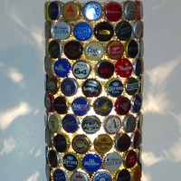 Recycled Bottle Cap Lamp Man Cave Bar Light
