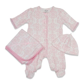 Little Me Baby Girls' Damask Scroll Layette Set