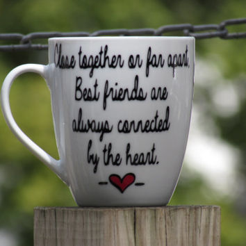 Long Distance Best Friend Gift, Personalized with Two different States or countries. BFF Gift, Personalized Coffee Mug, Coffee Cup State mug