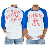 New England Patriots Red Zone Raglan Long Sleeve T-Shirt – White