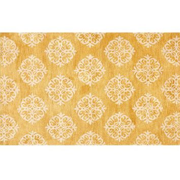 EMPIRE SCROLL RUG - HONEY GOLD