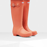 HUNTER ORIGINAL TALL SUNSET WELLINGTON BOOTS Welly ORANGE CORAL BN NWT