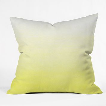 Social Proper Lemon Ombre Throw Pillow