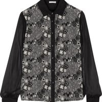 Embroidered Chantilly lace and silk top   OSCAR DE LA RENTA   Sale up to 70% off   THE OUTNET