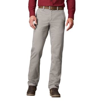SONOMA life + style Twill Straight-Fit Flat-Front Pants - Big & Tall, Size: 38X36 (Brown)