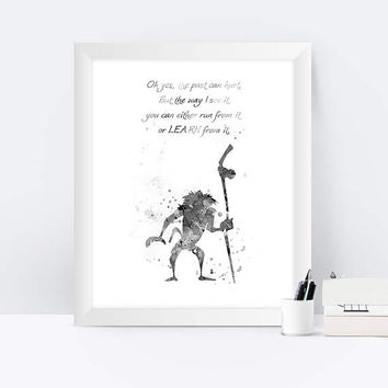 Rafiki Black and White Rafiki quote inspired Lion King Rafiki Poster Watercolor Disney Simba Nursery Kids Room Wall Art instant download