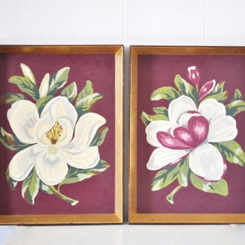 Mid-Century Magnolia Paint by Number Set