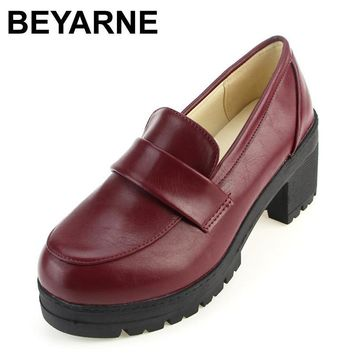 BEYARNE NEW Thick with round head Students shoes Japanese school uniforms Japanese ins