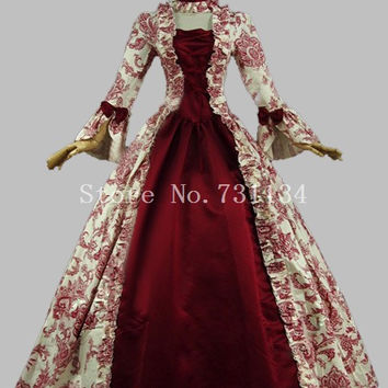 Colonial Victorian Gothic Steampunk Dress Period Gowns Reenactment Theatre Clothing Renaissance Medieval Costumes