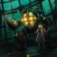 BioShock Big Daddy Little Sister Video Game Poster