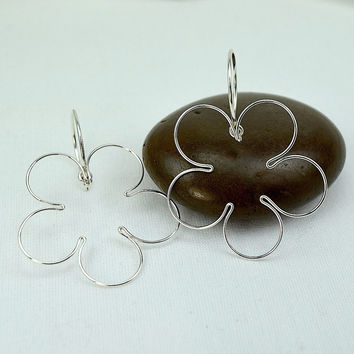 Blossom Silver Earrings, Small