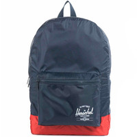 HERSCHEL PACKABLE BACKPACK - Navy/Red