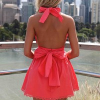 LIZZY TAYLOR DRESS , DRESSES, TOPS, BOTTOMS, JACKETS & JUMPERS, ACCESSORIES, 50% OFF , PRE ORDER, NEW ARRIVALS, PLAYSUIT, COLOUR, GIFT VOUCHER,,Pink,LACE,BACKLESS,SLEEVELESS,MINI Australia, Queensland, Brisbane