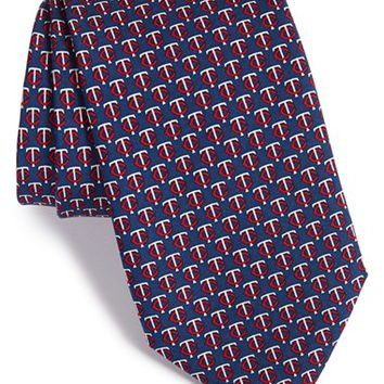 Men's Vineyard Vines 'Minnesota Twins - MLB' Print Silk Tie, Size Regular - Blue