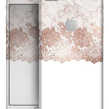 Rose Gold Lace Pattern 13 - Skin-kit for the iPhone 8 or 8 Plus