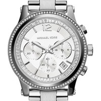 Women's MICHAEL Michael Kors 'Heidi' Chronograph Bracelet Watch, 40mm - Silver