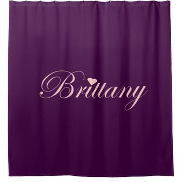 Brittany's Purple and pink shower curtain