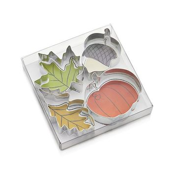 Set of 4 Autumn Cookie Cutters