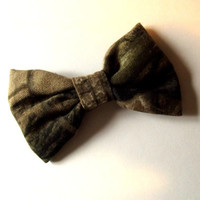 Camo Bow Hair Clip AP Realtree