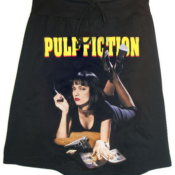 Pulp Fiction Uma Thurman Photo Print T-Shirt Skirt