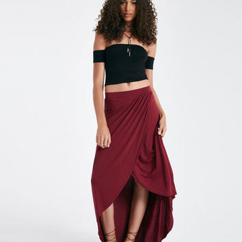 Knit Tulip Maxi Skirt | Wet Seal