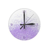 fading in purple clock from Zazzle.com