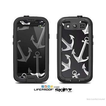 The Black Anchor Collage Skin For The Samsung Galaxy S3 LifeProof Case