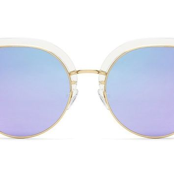 Quay - Oh My Dayz Clear Sunglasses / Purple Mirror Lenses
