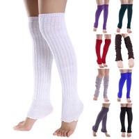 Girl Fashion Leggings Women Warm Long Socks Knit Over Knee Socks 1 Pair 8 Colors