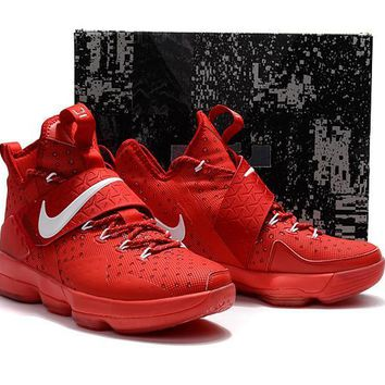 qiyif Nike Air Zoom Men's Lebron 14 Basketball Shoes All Red 40-46
