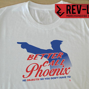"Better Call Saul X Ace Attorney ""Better Call Phoenix"" T-Shirt - Phoenix Wright X Saul Goodman - Capcom X Breaking Bad Shirt by Rev-Level"