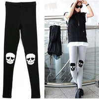 Skull On Knee Leggings