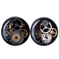 BMA Modified Junkyard Steampunk Watch Part Plugs Silver (8mm-51mm)
