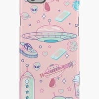 'Galaxy Babe Pattern' iPhone Case/Skin by lunaelizabeth