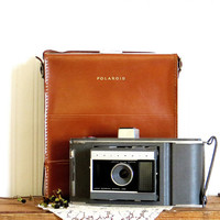 Polaroid Land Camera J66 with Leather Case and Print Coaters