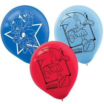 New!!! 30pcs Cartoon Game Sonic Party Balloons Hedgehog Latex Balloons Birthday Toys Decoration Party Supplies Kids Gift