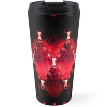 'Burning Leather ' Travel Mug by Jessica Ivy