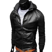 Men's Fashion Korean Knitwear Short Slim Fit Hoodies 3 ColorS Jackets
