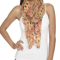 Multi Tribal Print Scarf | Shop Accessories at Wet Seal