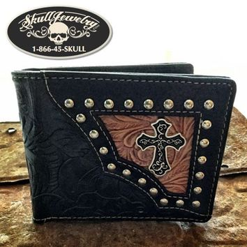 Cross Leather Wallet Black (wallet004)