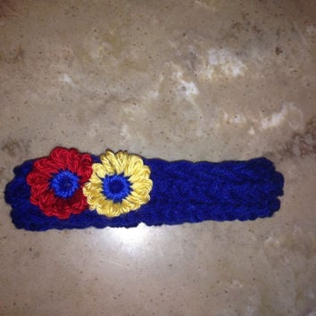 Snow White Inspired Baby Infant Girls Knitted Headband