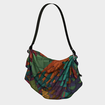 Design: Shattered - Origami Tote Bag, Tote Bag, Bag, Carry-all Bag, Over-the Shoulder Bag, Accessory, Fashion Accessory, Gift for Her