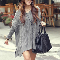 Warm Loose Long Sweater Dress from Girl boutique