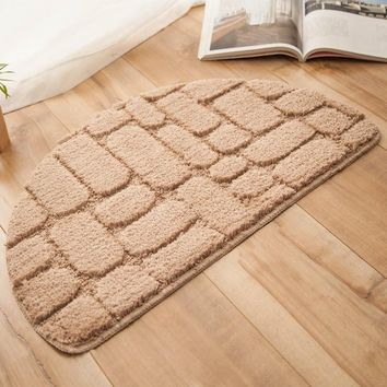 Autumn Fall welcome door mat doormat Solid Area Rugs For Home Half-round  Entrance Foot Mat Bathroom Carpet Water Absorption Floor Carpet tapete para sala AT_76_7
