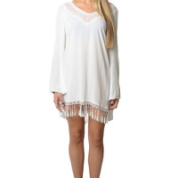 Lusty White Boho Dress