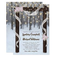 Rustic Winter Outdoor Wedding Arbor Card