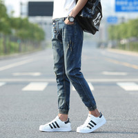 Summer Pants Jeans Korean Slim Men Cropped Pants [6543159939]