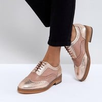 ASOS MUNICH Leather Flat Shoes at asos.com